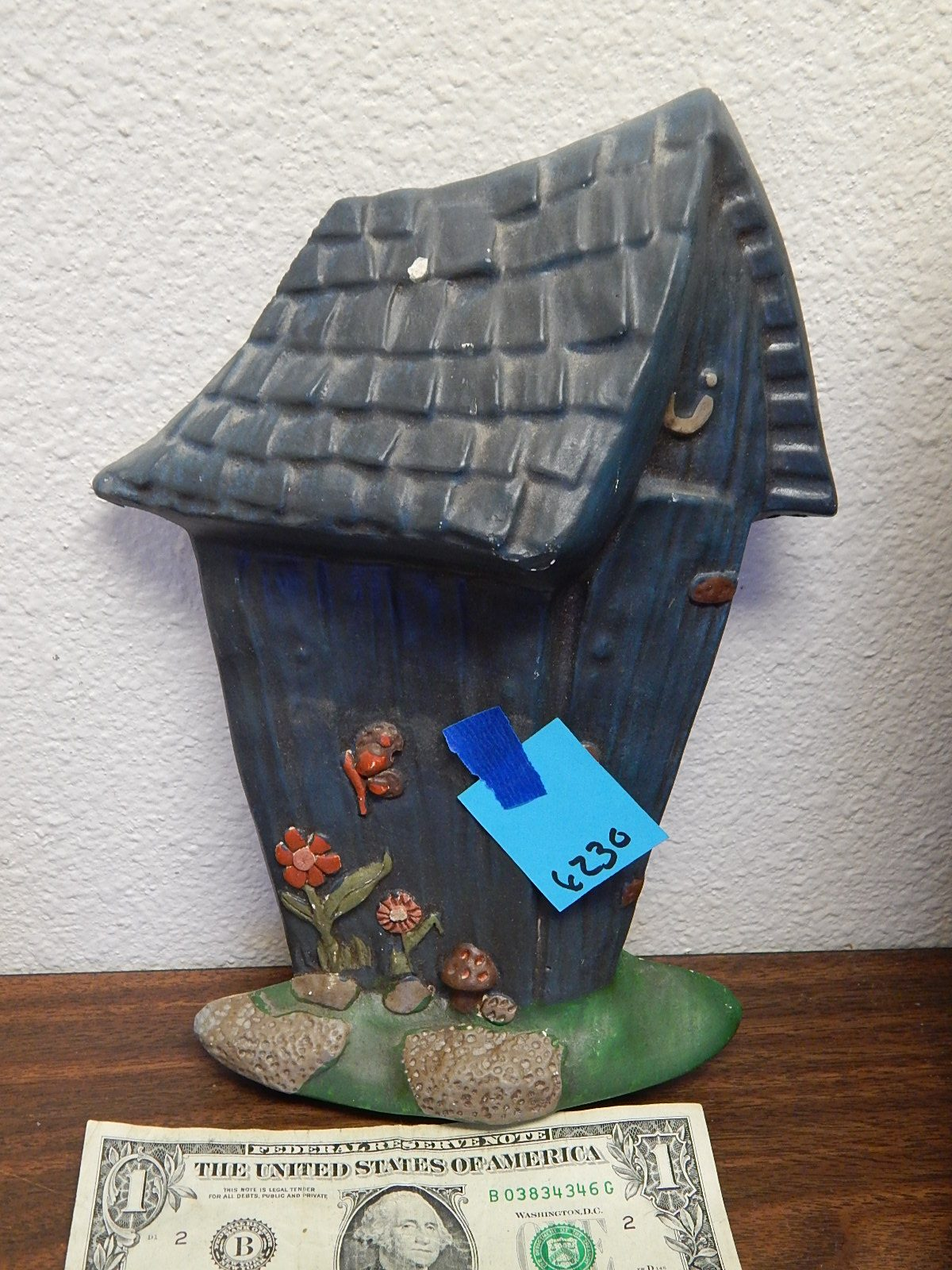 BD6230-Vintage Chalk Made Outhouse Wall Hanging 9.5x7