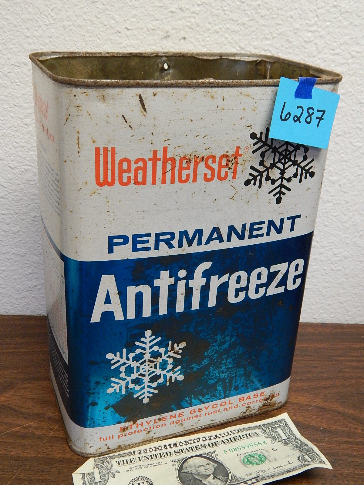 BD6287- Old Anti-Freeze Empty Container 1964