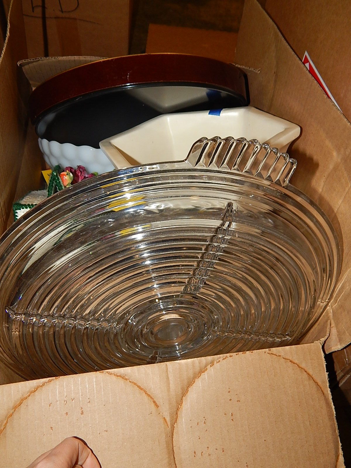L6323- Box Full With Platters And More