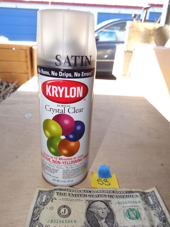 53-Krylon Crystal Clear Satin Spray Paint