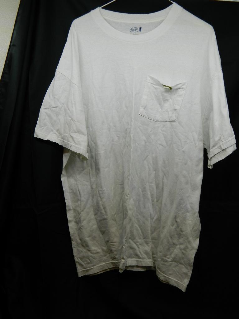 AA2956- MEN'S Size 2XL White Short Sleeve Shirt