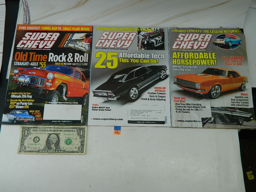 LA6090- Super Chevy 2006 Magazines 'January, May, and December' GREAT INFORMATION AND FACTS INSIDE