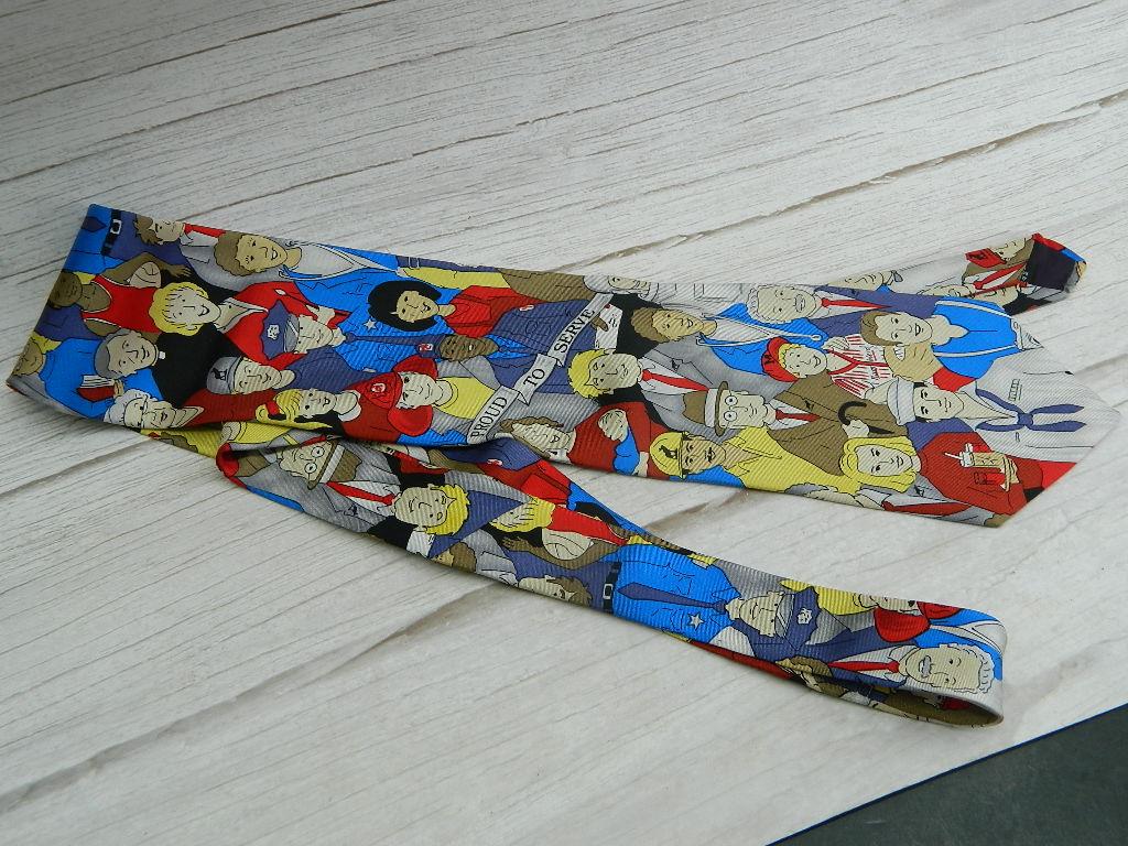 OE7695- MEN's Moose International Membership Dept. 'Proud Served' Career Themed Dress Tie