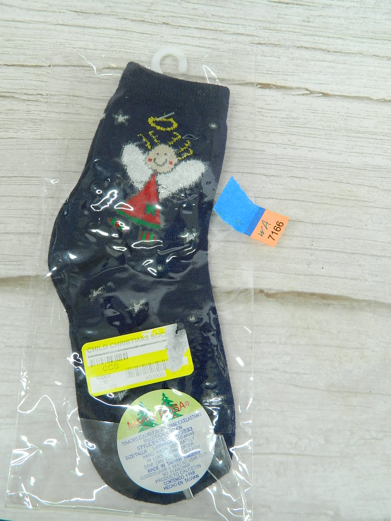 WA7166- Navy Blue Christmas Themed Size L Socks