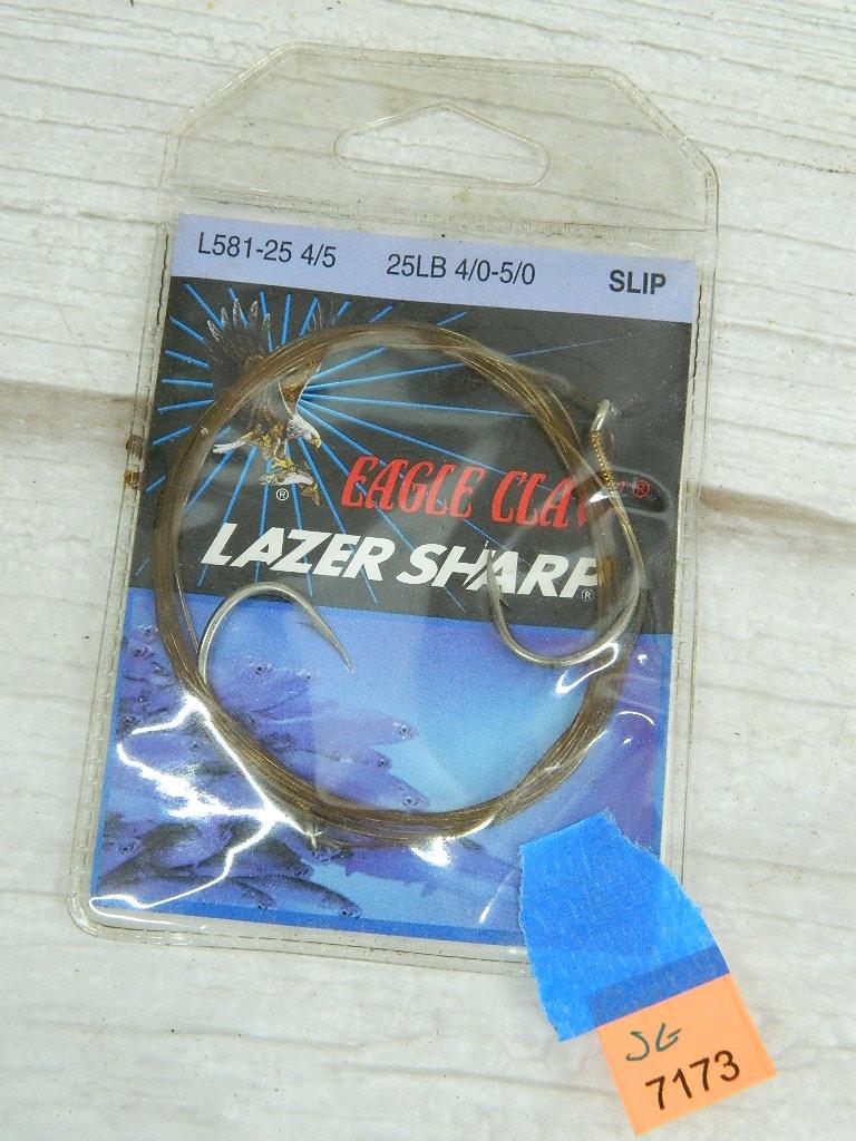 SG7174- EAGLE CLAW Laser Sharp 25LBS 4/0-5/0 Slip Fish Hooks