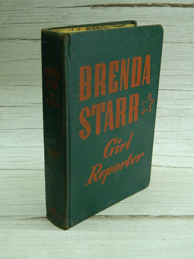 AA7728- Vintage 1943 BRENDA STARR 'Girl Reporter' Authorized Edition 2383 WHITMAN Collectible Book W/ Pictures Great Condition Amazing Read