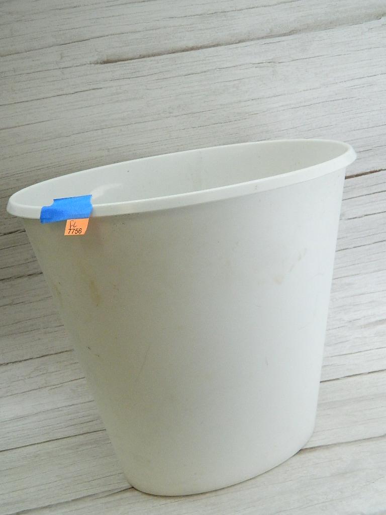 FL7756- White Plastic Made STERILITE Small Trashcan '11.25x12.25in'
