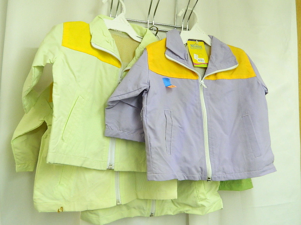 WA7768- Collection of 5 NEW Toddler Sizes 12-18month 9-12month 18-24month Various Colored Rain Jackets