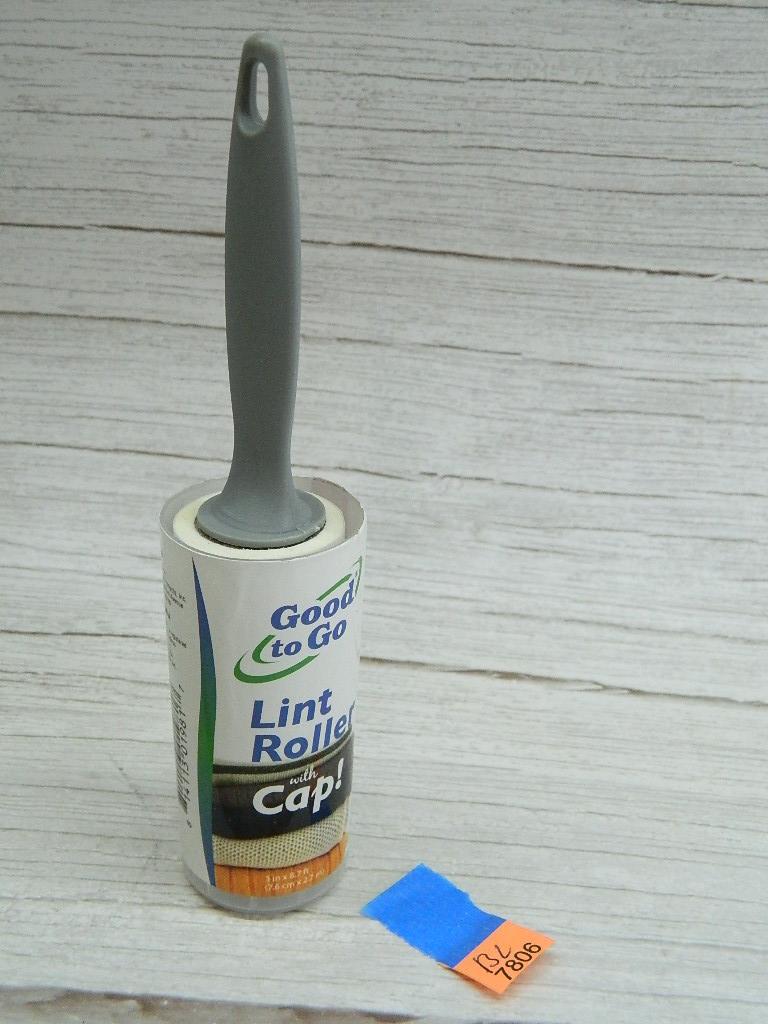 BL7806- NEW 30 Sheet Lint Roller w/ Cap '3in x8.7FT'