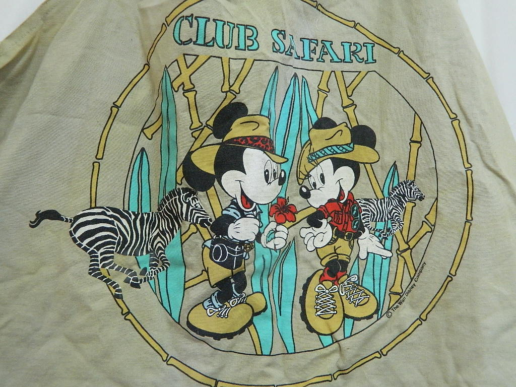 AA6547- Old Button Side Size Small? MICKEY AND MINNIE MOUSE THEMED 'Club Safari Las Vegas' Tank Top Shirt