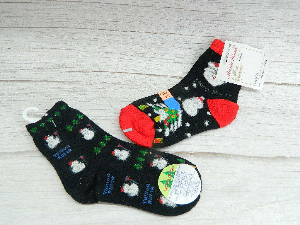 WA7829- Pair of Youth Size 4-6 NEW Christmas Themed Socks