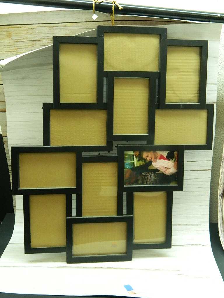 SG7864- Black Framed Collage Style Picture Frame Total Measurements '23.25x20.5in' Fits '5x3.5in'