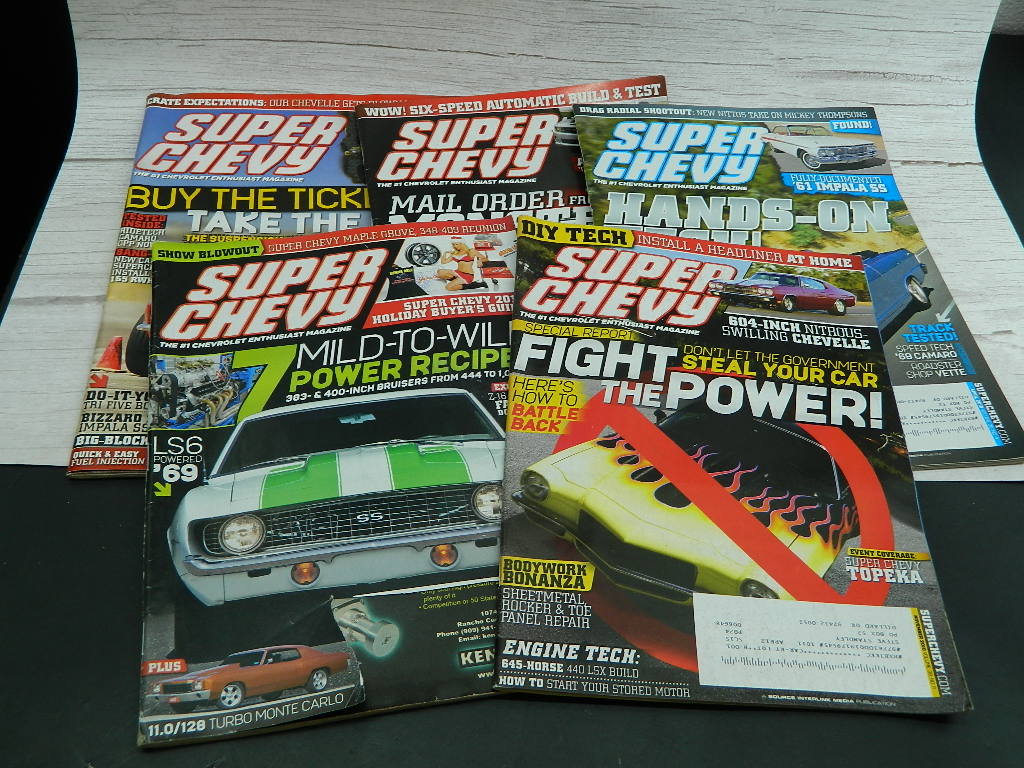 LA7886- Collection of 5 SUPER CHEVY 2010 Car Magazine Great Information Inside