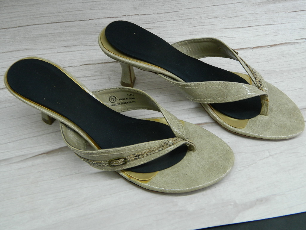 OE7902- WOMEN'S Size 8.5 Super Cute Snake Skinned Themed Heeled Sandals