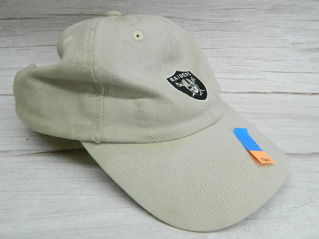 AA7941- Vintage NFL RAIDERS Beige Colored Adjustable Billed Hat