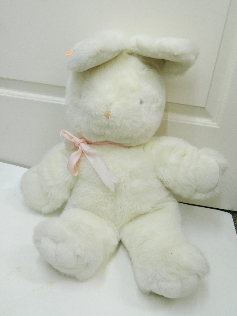 SG7953- Super Cute Vintage Large Stuffed Easter Bunny Animal '30in w/ Ears'