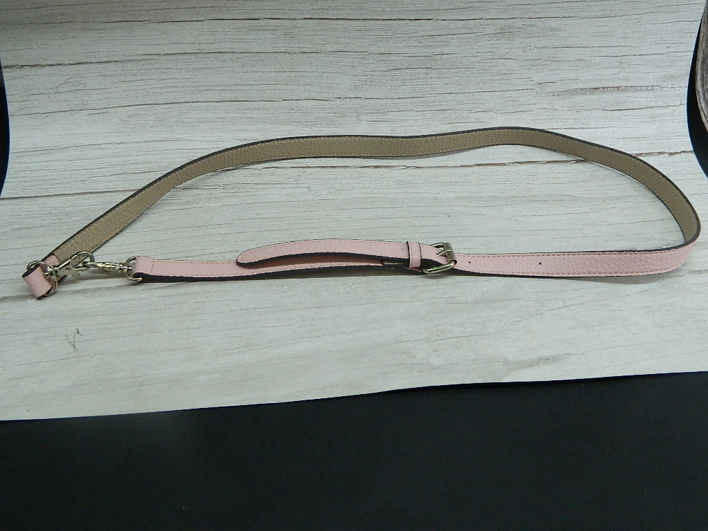 OE8014- Very Cute Leather Feeling Pink Belt w/ Clips '49in Overall Length'