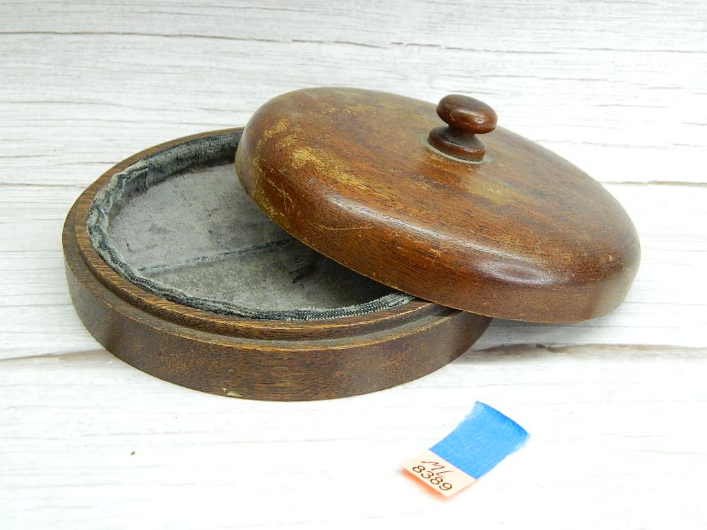 ML8389- Cute Wooden Made Felt Lined Trinket Box '1.5x5.75in Across'