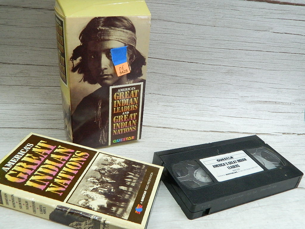 OE8428- Set of 2 VHS Documentary Tapes 'Americas Great Indian Leaders and Great Indian Nation' by QUESTAR