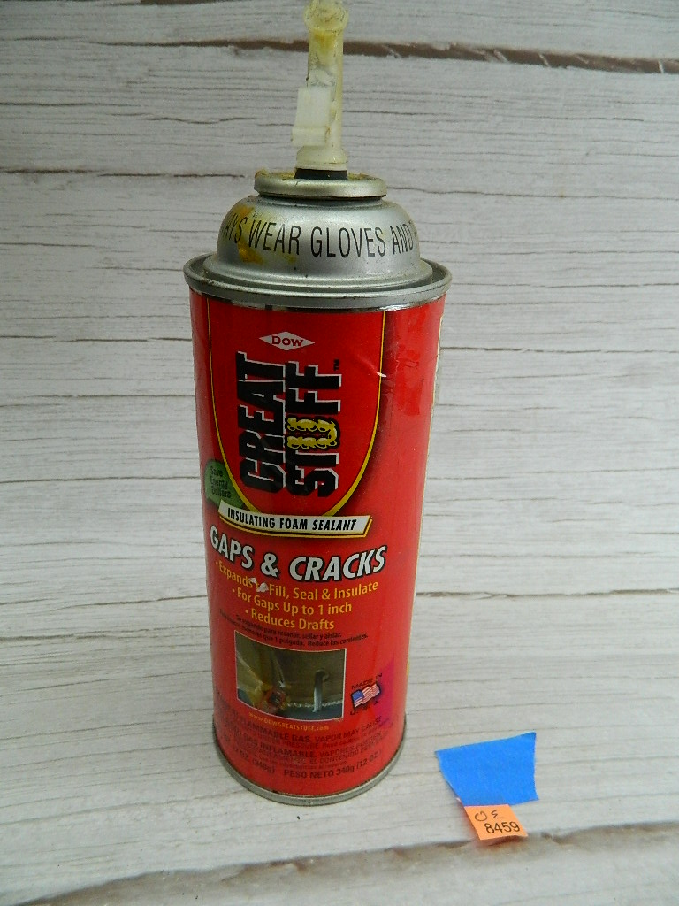 OE8459- MOSTLY Full Can of  DOW Great Stuff Insulating Foam Sealant for Gaps and Cracks 12oz