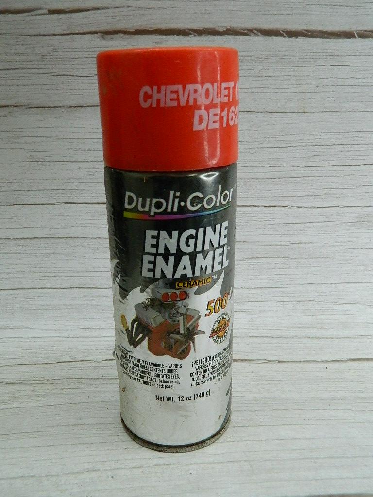 OE8478- MOSTLY Full Can of DUPLI-COLOR Engine Enamel Ceramic Painter Chevrolet Orange DE1620 12oz
