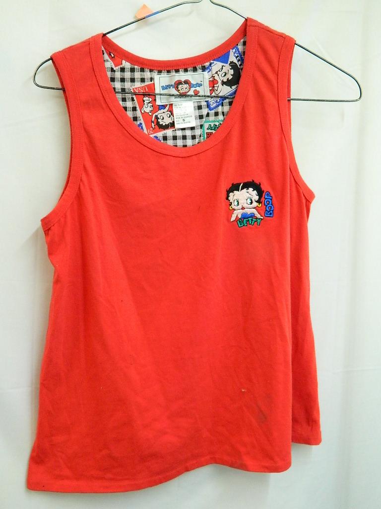 AA8483- WOMEN'S Size S  Cute Red Betty Boop Tank Top