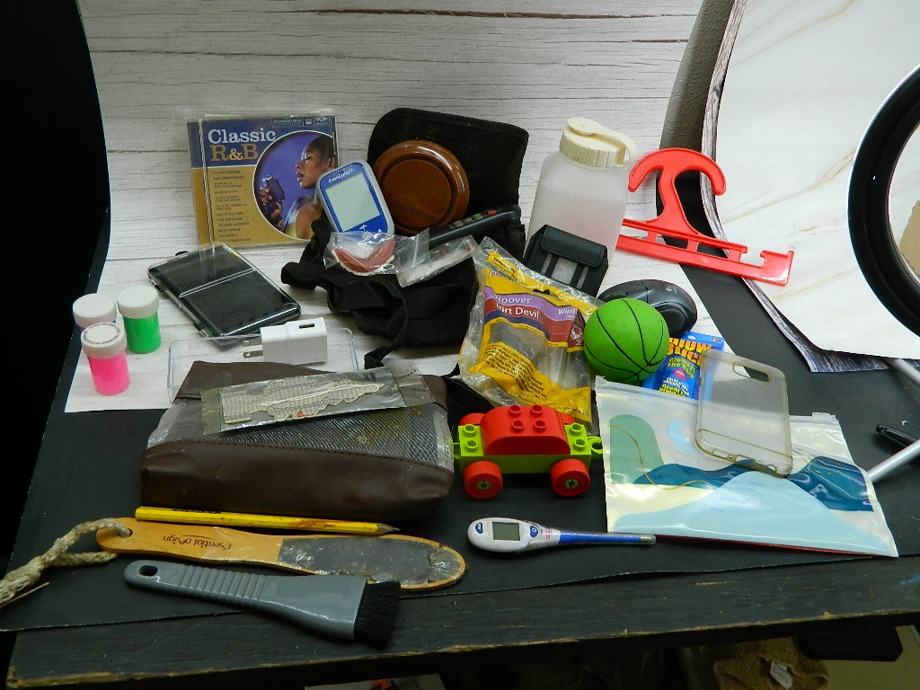 OE8516- Box of Pencil Bags, Toys and More '9.25x10x7.75in'