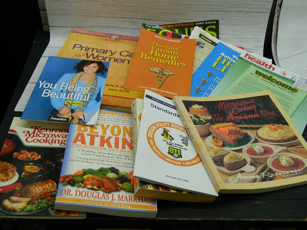 OE8522- Collection of Cook Books, Women Self Help Books and More