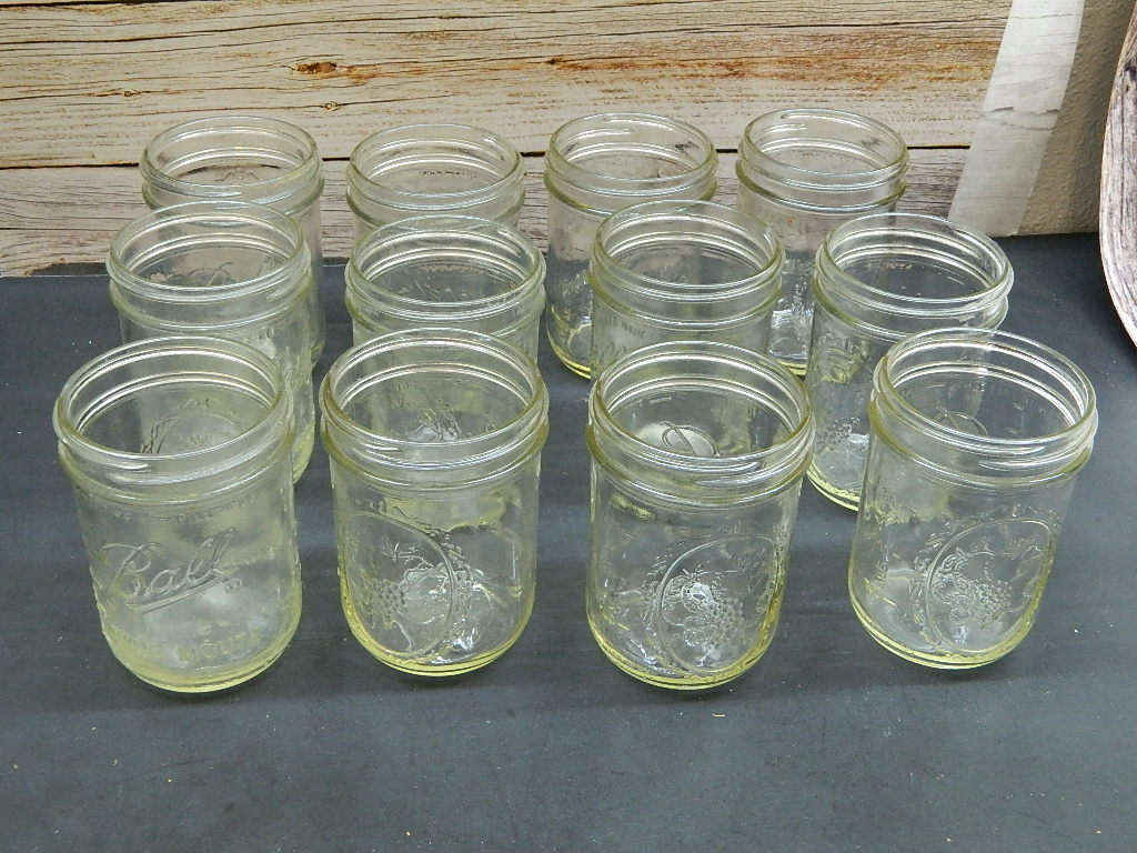 OE8524- Set of 12 BALL Wide Mouth Canning Jars