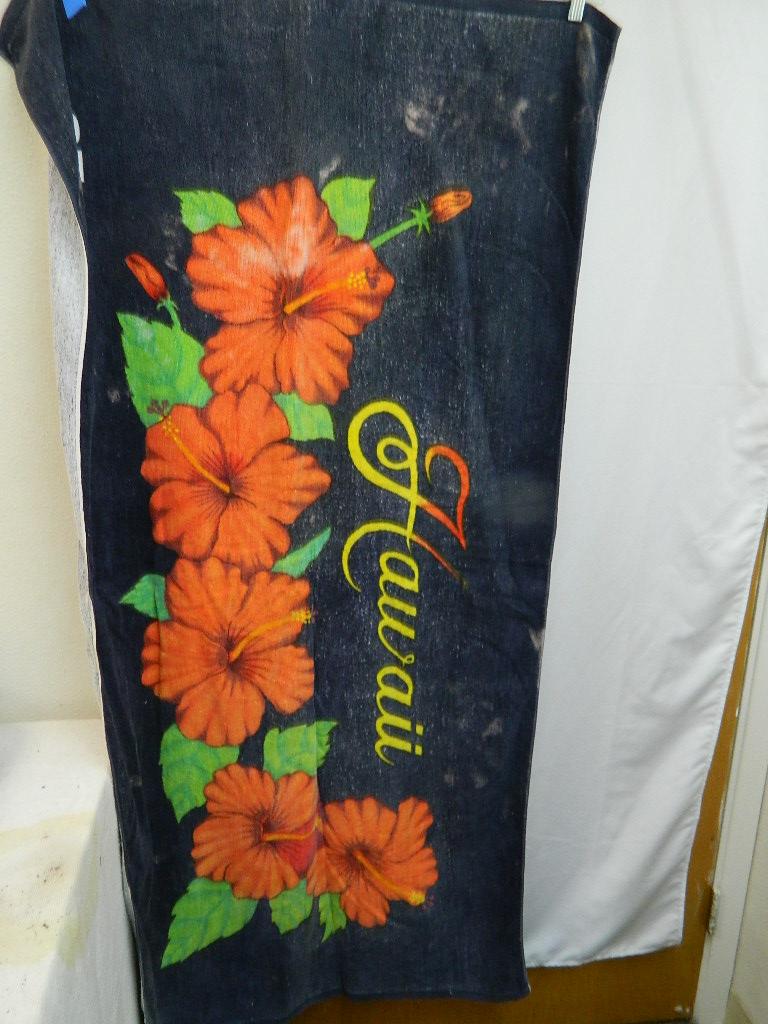 AA8537- Hawaiian Flower Themed Large Beach Towel Just In Time
