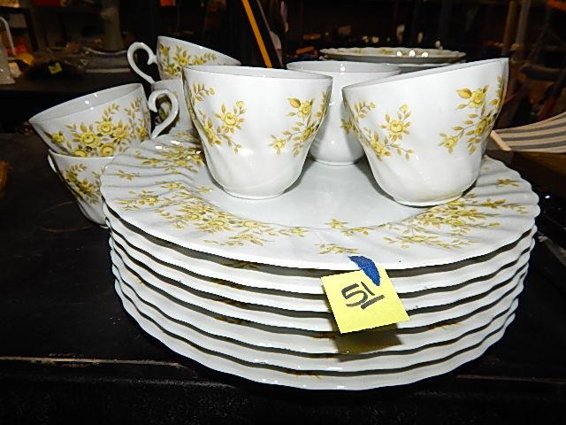 51-Plantation 3752 Japan China Tea Set Tea Cups & Plates & Saucers 31pcs