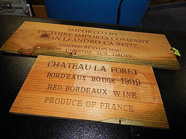 63-Two Wooden Wine Themed Signs