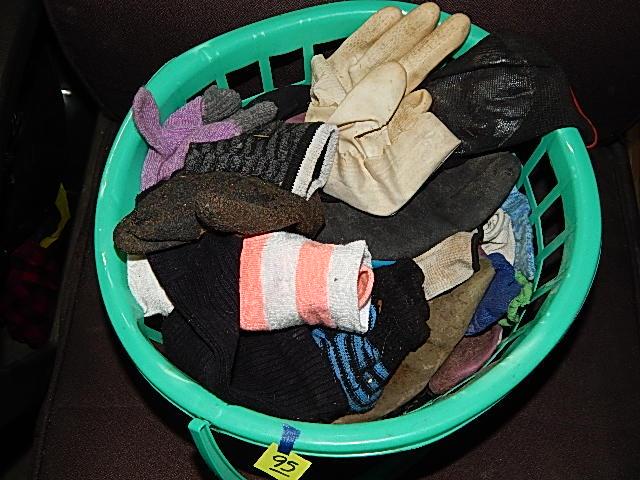 95-Basket of Gloves & Socks