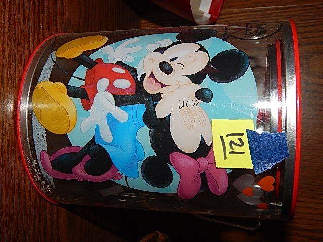 121-Disney Mickey & Minnie Mouse Clear Mailbox Container