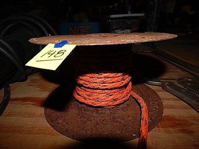 CB148-Metal Spool w/ Orange Nylon Rope