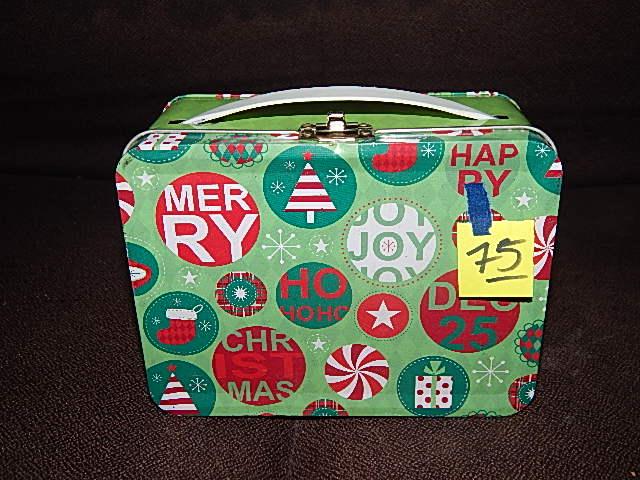 75-Christmas Themed Mini Lunchbox