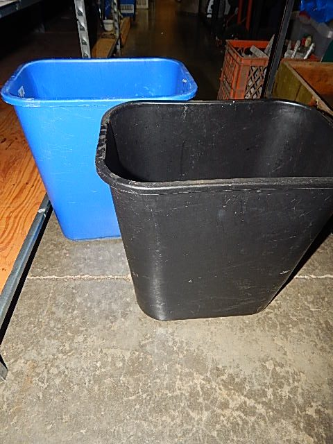 139-Two Small Rubbermaid Garbage Cans